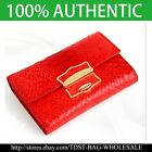 [OMNIA] Korea Crystal Ladies  Leather Middle Wallet Trifold Purse-KR306M Red image