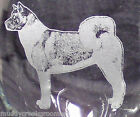 New Unique & Beautiful Akita Dog Etched on Glass Set Glassware Choice