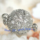 AAA Grade ziron white Gold Plated Jewelry ball Clasp 8mm