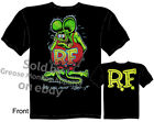 Ed Roth Signature T shirt 3D Rat Fink Shirt Garage Black Tee Sz M L XL 2XL 3XL