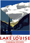 T58 Vintage Canada Canadian Lake Louise Travel Poster Re-Print A4