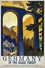 TW81 Vintage 1930 Germany Black Forest German Travel Poster Re-Print A1/A2/A3