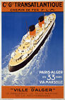 TX03 Vintage 1935 French Cruise Ship Transatlantique Travel Poster A1/A2/A3