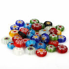 10x Wholesale New Strands Lampwork Colorful Flower Millefiori Glass Spacer Beads