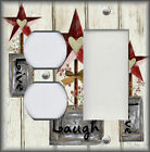 Metal Light Switch Plate Cover - Farmhouse Decor Live Laugh Love Decor Ivory