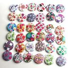 40-100x Assorted Mixed Wooden Buttons Art Crafts Card Making Scrapbooking Sewing