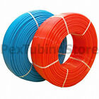 (1) Blue + (1) Red rolls of Non-Barrier PEX Tubing for Plumbing Applications