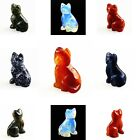 Carved kinds of material Cat figurine