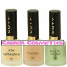 Coty Active Nail Strengthener or Quick Dry Top Coat or Power Base CHOOSE