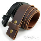 Belt Strap Snap On Solid Hide 100% One Piece Leather Belt New Black Brown White