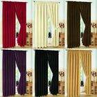 Pair of Fully Lined JACQUARD SWIRL DESIGN Pencil Pleat Curtains + Tiebacks