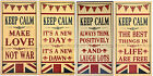 Keep Calm Large Wooden Union Jack Plaque Various Quotes 4 Choice Retro Wall Sign