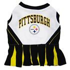 Dog Pet Pittsburgh Steelers NFL Football Cheerleader Outfit Collar Leash Costume