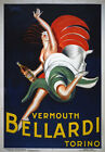 AZ03 Vintage 1920's Vermouth Bellardi Alcohol Drink Advertisement Poster A4