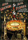 M41 Vintage 1890's High Wire Circus Poster A1 A2 A3