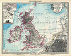 MP13 Vintage Old 1891 German British isles Britain Map Poster Re-Print A1 A2 A3