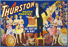 M2 Vintage Thurston Magic Master Magician Theatre Poster Art A1 A2 A3