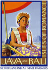 TR16 Vintage India Indian Java & Bali Travel Tourism Poster A1 A2 A3
