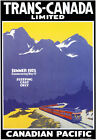 TR86 Vintage Canadian Pacific Trans Canada Railway Poster A1 A2 A3