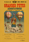 AV50 Vintage 1868 Grandes Fetes Balloon Advertisement Poster Re-Print A4