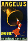AV60 Vintage 1907 French Angelus Liqueur Drinks Advertisement Poster Re-Print A4
