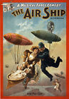 TZ8 Vintage Musical 'Air Ship' Musical Comedy Theatre Poster Re-Print A4