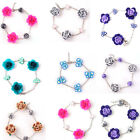 Fashion Hot Colorful Summer Handmade Flower Fimo Beads Charm Bracelet Jewelry