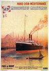 TX155 Vintage Messageries Maritimes French Cruise Liner Travel Poster Print A4