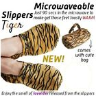 NEW SOFT LAVENDER SCENTED RELAXING MICROWAVE WARM SLIPPERS w/ CARRY BAG SZ 3 - 8