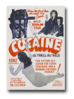 AZ14 Vintage 1950's Cocaine Thrill That Kills Anti Drugs Movie Poster RePrint A4