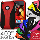 NEW STYLISH DUAL COLOUR HARD CASE COVER FITS IPHONE 3G 3GS FREE SCREEN PROTECTOR