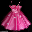 FREE P&P P5298 Girl Pink Christmas Pageant Flower Girls Dress SZ 2,3,4,5,6,7,8,9
