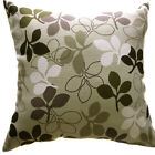 AF72a Gray Black White Leaf Cotton Canvas Cushion Cover/Pillow Case *Custom Size