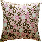 AF75a Baby Blue Pink Flower Cotton Canvas Cushion Cover/Pillow Case *Custom Size