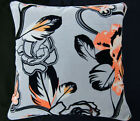 Ue98a Red Brown Rose on Gray Velvet Style Cushion Cover/Pillow Case *Custom Size