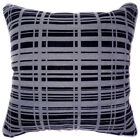 UL21a Black Light Gray Strip Velvet Style Cushion Cover/Pillow Case *Custom Size