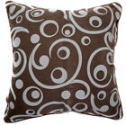 UL92a Ash GrayPolka Dot Curve on Brown Velvet Style Cushion Cover/Pillow Case