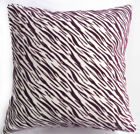 UL98a Deep Purple Tiger Zebra Cream White Velvet Style Cushion Cover/Pillow Case