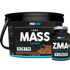 4KG WEIGHT GAINER PROELITE LEAN MASS GAIN WHEY PROTEIN + ZMA TABLETS MASS STACK