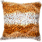 Ff15a Faux Fur Brown Leopard Skin Print Cushion Cover/Pillow Case*Custom Size