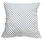 EC017 Navy Blue Dot on White Upholstery Cushion Cover/Pillow Case *Custom Size