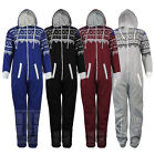 UNISEX MENS WOMENS NORDIC AZTEC ZIP ONESIE PLAYSUIT ALL IN ONE PIECE JUMPSUIT