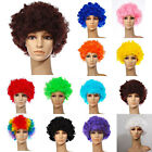 12 Colours Curly Afro Fancy Dress Funky Wig Disco Clown Mens/Ladies Costume