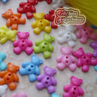 Assorted Bear 15mm Plastic Buttons Sewing Scrapbooking Cardmaking Craft LDB