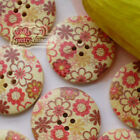 Flowerworld 30mm Wood Buttons Sewing Scarpbooking Craft A011