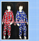 KIDS BOYS GIRLS ALL IN ONE SLEEPSUIT PYJAMA Football AGE 1 2 3 4 Y Footie Footy