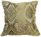 Wd27Aa Light Tan Damask Chenille Flower Throw Cushion Cover/Pillow Case*Cus-Size