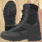 ARMY LEATHER COMBAT PATROL BOOTS BLACK TACTICAL CADET TA MILITARY WORK SECURITY