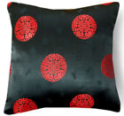BL094a Red Aster Medallions Rayon Brocade Cushion Cover/Pillow Case*Custom Size
