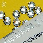 GENUINE Swarovski Crystal Clear Iron On Round Diamante Hotfix Rhinestones Beads